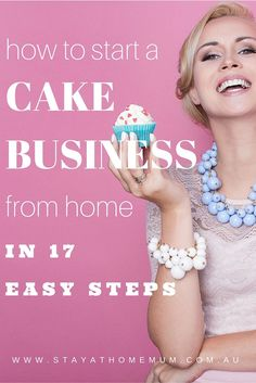 A home business can help you to make money and have a balanced life.What are the right steps you think it takes to start and run a successful home business? Home Bakery Business, Baking Business, Business Tips, Online Business, Craft Business, Business School, Business Quotes, Business Logo, Business Planning