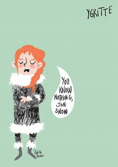 Ygritte Cartoon Illustrations by Pedrita Parker