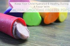 Keep Your Child Hydrated & Happy During A Fever With Herbal Smoothie Freezer Pops | The Mommypotamus |