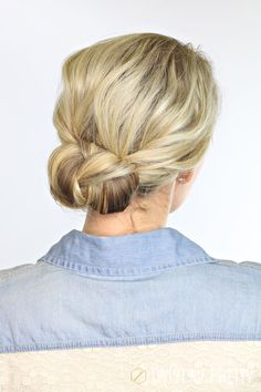 The perfect back to school hairstyle. Quick, easy, and it stays out of the face. Tutorial at Twist Me Pretty