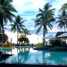 Fiji. #nadi #fiji #resort #palmtrees #pool