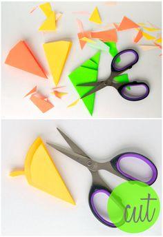 Omiyage Blogs: DIY: Neon Kirigami Flowers