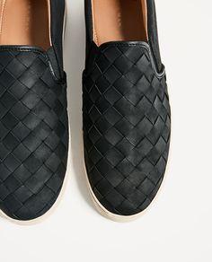 TENNIS TRESSÉES SANS FERMETURE-Tout voir-CHAUSSURES-HOMME   ZARA France Chaussures  Homme b00df8b9ae56