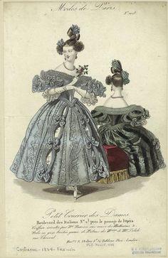 Modes de Paris, Petit Courrier des Dames, 1834; PC COSTU-183-Fr 694606