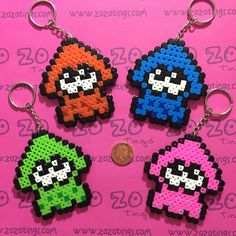 Splatoon keyrings hama beads by Zo Zo Tings