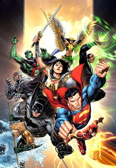 DC Comics just announced a new Justice League series spinning out of Dark Nights: Metal. The Jim Cheung cover for Issue looked amazing. Marvel Dc Comics, Dc Comics Superheroes, Dc Comics Art, Dc Comics Characters, Justice League Comics, New Justice League, Aquaman, Mundo Superman, Hq Dc
