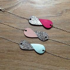 Diy Jewelry Ideas : Bracelet cuir et paillettes Clay Jewelry, Jewelry Crafts, Handmade Jewelry, Jewellery, Jewelry Ideas, Leather Accessories, Jewelry Accessories, Jewelry Design, Diy Leather Earrings