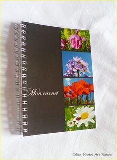 """Carnet de notes artisanal 10x15cm couverture avec des photos de fleurs""""Mon petit carnet"""" : Carnets, agendas par celinephotosartnature Celine, Artisanal, Photo Art, Notebook, Nature, Photos, Etsy, Google, Day Planners"""