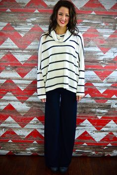 ZZS has the best palazzos ever! Black Fold-Over Palazzos – The ZigZag Stripe.  Use coupon code ZZS72 for 10% off,and shipping is free! zigzagstripe.com
