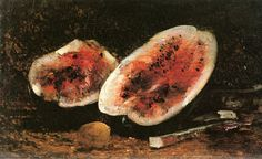Watermelon with Lemon and Cherries by Felix-Francois-Georges-Philbert Ziem - circa 1895