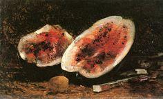 The Athenaeum - Watermelon with Lemon and Cherries (Felix-Francois-Georges-Philbert Ziem - )