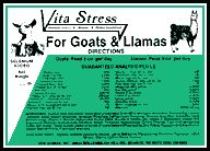 GoVita Stress is the best ballanced supplement you can buy......  * General appearance * Resistance to parasitic infection * Blood count * Clearness of eye * Sheen of coat * General Animation* Helps increase milk production * Stronger, healthier crea at birth * Development of muscle and bone in growing kids. * Stronger, healthier hoofs * Helps improve conception rateaat and Llama Vita Stress nutritional supplement Nutritional Supplements, Conception, The Ranch, Homestead, Goats, Birth, Count, Blood, Stress