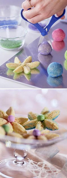 Pastel Flower Sugar Cookies: cute, easy and fun to make -- a perfect Springtime cookie