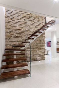 Modern Staircase Design Ideas - Stairways are so typical that you do not give them a reservation. Look into best 10 instances of modern staircase that are as spectacular as they are . Home Stairs Design, Interior Stairs, House Design, Stair Design, Staircase Design Modern, Railing Design, Glass Stairs, Floating Stairs, Glass Railing