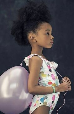 Aww. Can she be my Lily? Beautiful natural baby girl rockin' her frohawk
