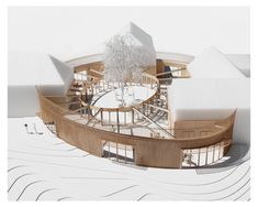 Image 11 of 11 from gallery of Horbelev Kulturgård / WERK. Collage Architecture, Architecture Design, Concept Models Architecture, Pavilion Architecture, Architecture Portfolio, School Architecture, Amazing Architecture, Architecture Diagrams, Circular Buildings