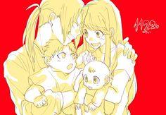 Tags: Anime, Pixiv Id 2979371, Fullmetal Alchemist, Fullmetal Alchemist Brotherhood, Edward Elric, Winry Rockbell, Baby