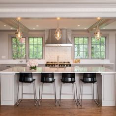 the pendants are great!  2015 NKBA People's Pick: Best Kitchen   Kitchen Ideas & Design with Cabinets, Islands, Backsplashes   HGTV