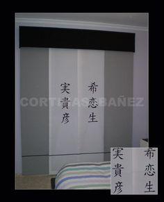 Panel japones con gotera y paneles centrales pintados por nosotros mismos. — en Burjasot.