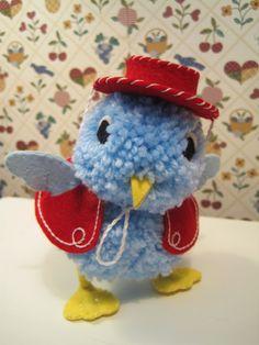Creative Breathing: April 2012  Pom Pom Cowboy Birdie With pattern