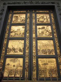 """Porte du baptistère de Florence, 1452 """"Porte du paradis"""" Ghiberti"""