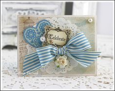 Anniversary card using Inspired By Stamping's 'Vintage Frames'.