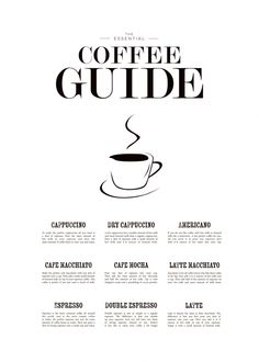 Coffee guide poster...