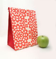 reduce waste amy butler fabric insulated lunch bag