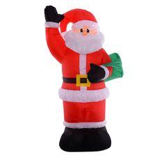 8 Ft Airblown Inflatable Christmas Xmas Santa Claus Bag Decor Lawn Yard Outdoor