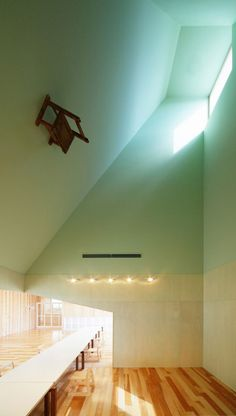 "Coloured skylights. Located in Nagahama, Japan and aptly titled ""House of Light"" ALWAYS consider the light in the house, each room during the day and night!!! Esp in the bathroom, and kitchen!!"