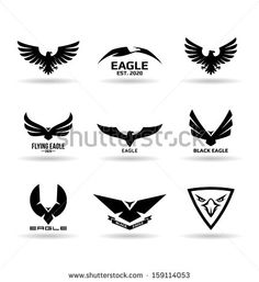 Eagles (11) - stock vector