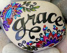 Faith / Painted Stone / Sandi Pike Foundas/ by LoveFromCapeCod