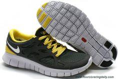 Mens Gray Yellow White 443815-018 Nike Free Run 2 Sale