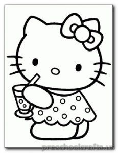 cat coloring pages for preschooler