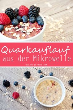 Quarkauflauf ohne Ei aus der Mikrowelle - WE GO WILD Microwave recipes are so practical. You only need a little time and a microwave for our quark casserole. The delicious dessert from the microwave t