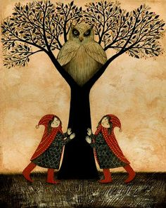 summon the tree spirit. illustration by Kathleen Lolley from Kentucky