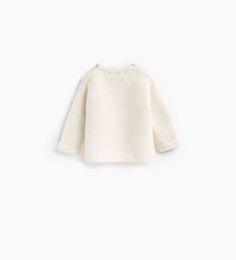 Afbeelding 2 van Basic trui met zakje van Zara