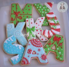 Christmas letter cookies