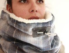 Cowl Scarf Snock® wool cowl unisex cowl scarf womens by jaffic