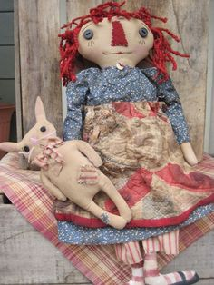 Listed this sweet Annie and bunny on Prim Nest, she is sold.  Hoping to get a pattern out for her soon.