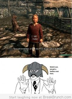 skyrim lol pics | Skyrim: we got a badass over here – LOL and Funny Picture at ...