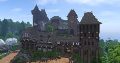 The Witcher 3 inspired Village w/ Castle [Conquest Reforged] Minecraft Map Minecraft Statues, Minecraft Structures, Minecraft Medieval, Minecraft Castle, Minecraft House Designs, Minecraft Construction, Minecraft Games, Cool Minecraft, Minecraft Creations