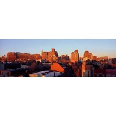 Panoramic view of lower east side of Manhattan New York City New York skyline near Greenwich Village Canvas Art - Panoramic Images (36 x 12)