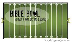 GAME:?Bible Bowl: 70 Ready-to-Print Q&As