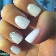 Brides Nail Design, but add pearls VS crystal