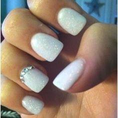 Brides Nail Design, but add pearls VS crystal