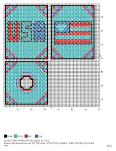 TISSUE COVER AMERICAN FLAG Plastic Canvas Coasters, Plastic Canvas Tissue Boxes, Plastic Canvas Crafts, Plastic Canvas Patterns, Box Patterns, Stitch Patterns, Crochet Garland, Yarn Storage, Crochet Humor