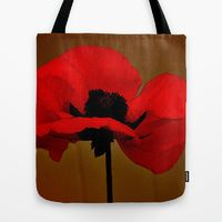 Tote Bag featuring POPPIES by Teresa Chipperfield Studios