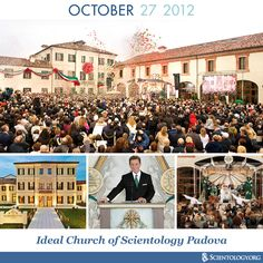 Today we celebrate the anniversary of the dedication of the Ideal Church of Scientology of Padova, located in the historic Villa Francesconi-Lanza in Padova's northern district of Arcella. The Church of Scientology acquired and meticulously restored Villa Francesconi-Lanza as a symbol of Venetian culture and a landmark for all residents of Padova.