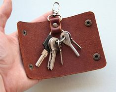 Leather Key Holder, Key Holder, Leather Key Case, Key Case, Key Pouch, Pocket Key Holder, Key Purse, Key Organizer, Slim Key Holder, Keys